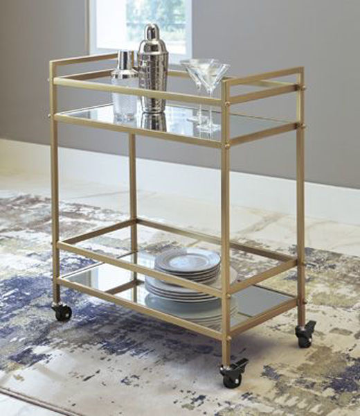 Picture of Bar Cart/Kailman/Gold Finish