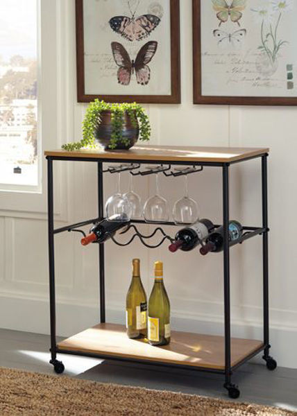 Picture of Bar Cart/Jadonport/Brown/Black