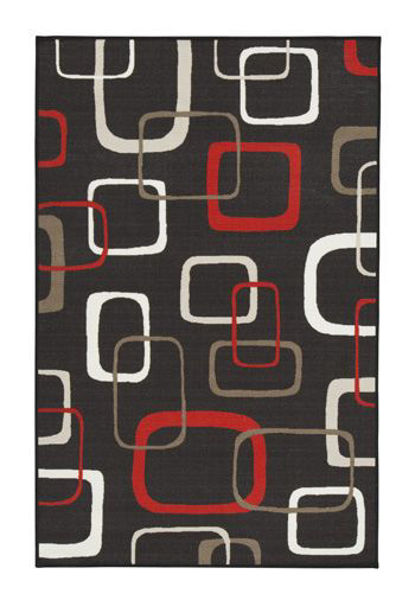 Picture of Medium Rug/Johan/Black/Red