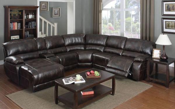 Picture of BROWN DURA-BLEND SECTIONAL