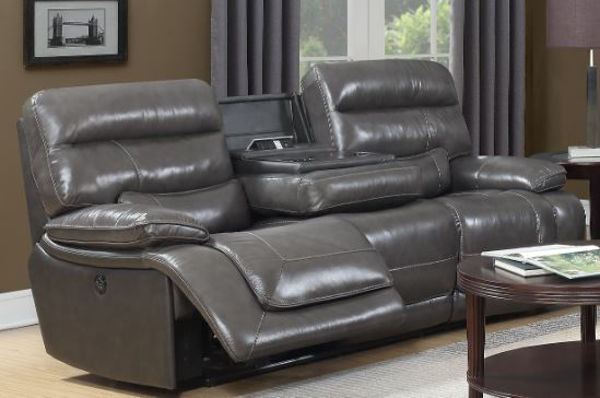Picture of 10580-3 PWR-SOFA: GRAY LEATHER