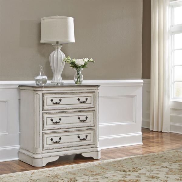 Picture of MAGNOLIA MANOR 244-BR64 3-DRAWER BEDSIDE TABLE