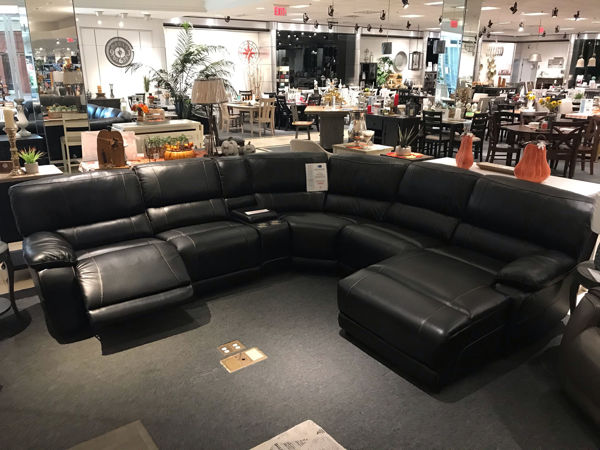 Picture of Black Genuine Leather Sectional