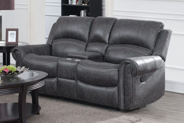 Picture of Gray Dual Reclining Loveseat